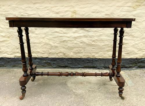 Fine 19th Century Regency Period Rosewood Veneered Occasional Writing Side Centre Table (1 of 12)