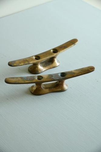 Pair of Copper Mooring Cleats (1 of 11)