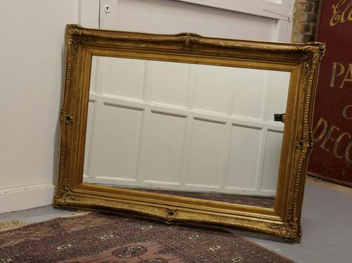 Large Rectangular Giltwood Mirror (1 of 7)