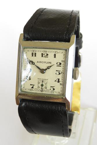 Gents 1930s Aeroplane wrist watch (1 of 5)