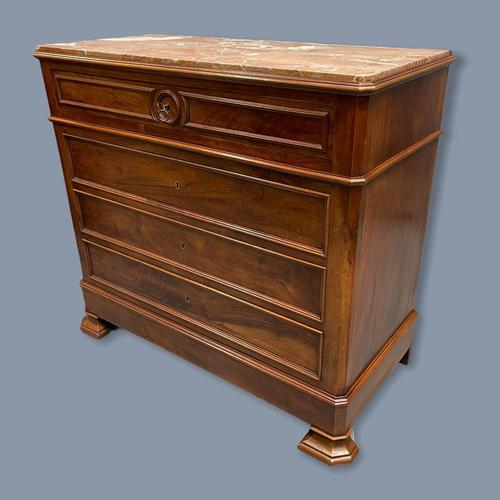 French Charles X Style Marble Top Commode (1 of 9)