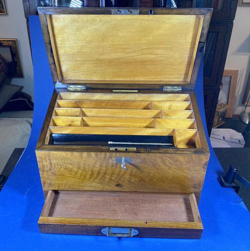 Victorian Walnut Stationary Box (1 of 15)