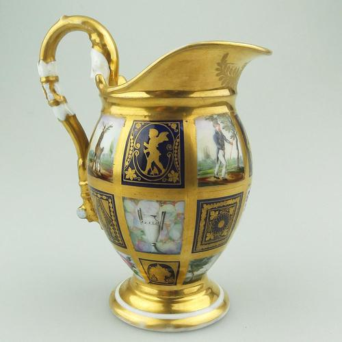 Extraordinary & Very Fine Old Paris Porcelain Gilt Jug Early 19th Century (1 of 12)