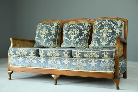 Vintage Bergere Cane Sofa (1 of 9)