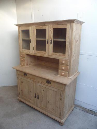 Lovely 3 Door 6 Spice Drawer Antique Pine Kitchen Dresser To Paint/Wax (1 of 9)
