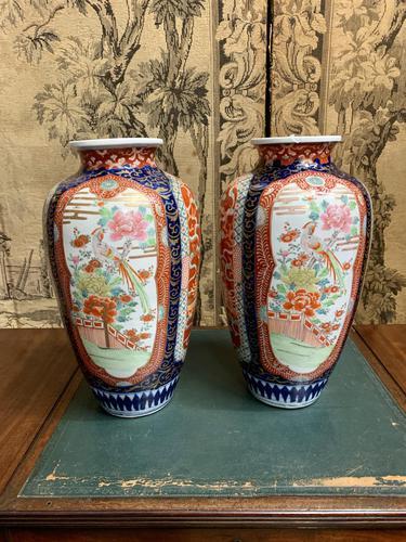 Pair of 19th Century Imari Vases (1 of 7)