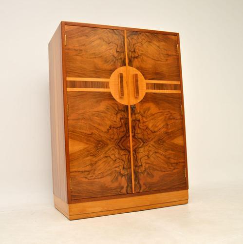 Art Deco Figured Walnut Compactum  Wardrobe (1 of 11)