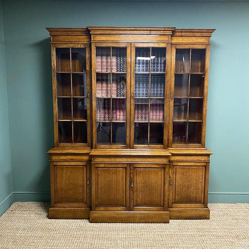 Super Quality Solid Oak Antique Library Bookcase (1 of 9)