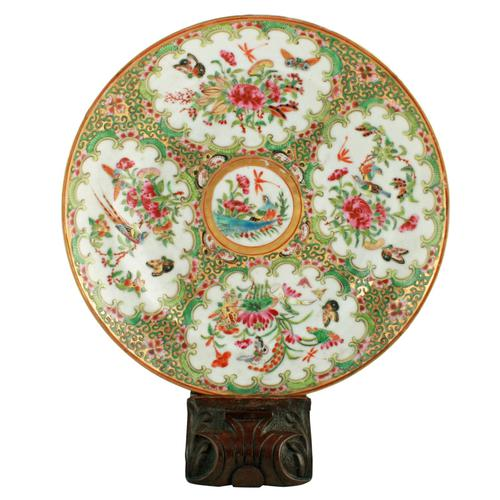 19th Century Chinese Canton Plate (1 of 8)