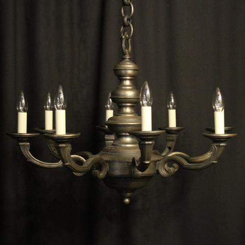 French Silver Gilded 8 Light Antique Chandelier (1 of 6)