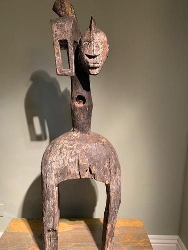 Rare & Old Two Faced Mumuye Sukuru Shoulder Mask (1 of 8)