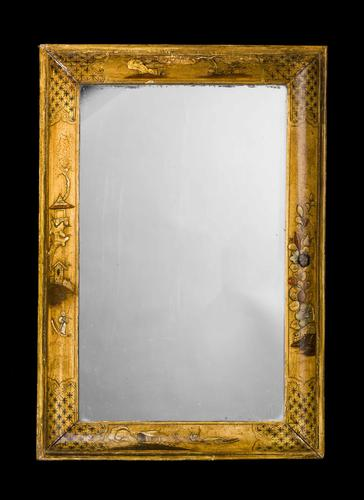 18th Century Laburnum Cushion Mirror (1 of 3)