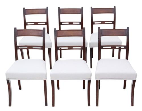 Set of 6 Mahogany Dining Chairs 19th Century (1 of 7)