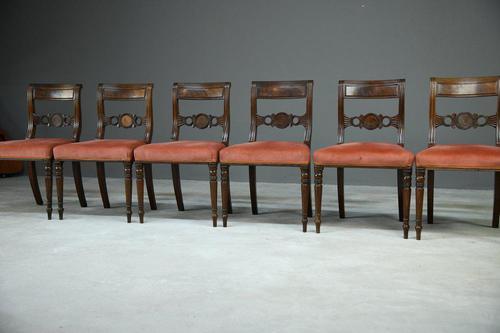 6 Regency Mahogany Dining Chairs (1 of 9)