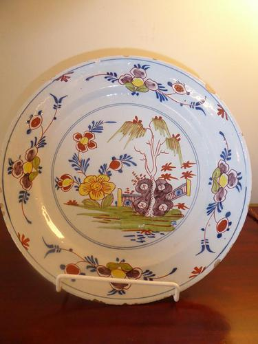 18th Century English Delft Charger (1 of 7)