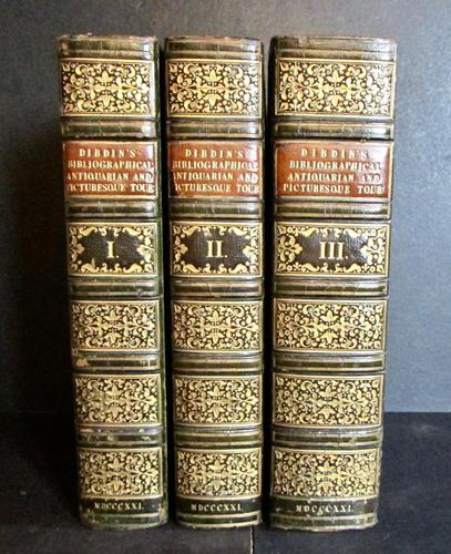 1821 - Bibliographical Antiquarian & Picturesque Tour of France & Germany by Thomas Frognall Dibdin - 1st Edition 3 Volume Set (1 of 5)