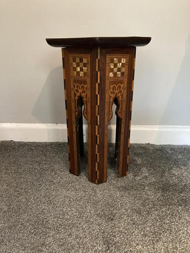 Anglo Moorish Occasional Table possibly retailed by Liberty & co (1 of 4)