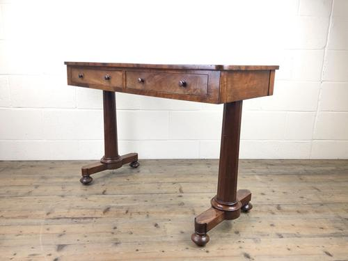 Victorian Mahogany Two Drawer Side or Console Table (1 of 17)