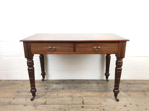 Edwardian Mahogany Two Drawer Side Table (1 of 11)
