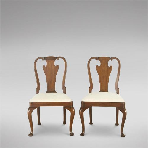 Pair of English George III Mahogany Chairs (1 of 4)