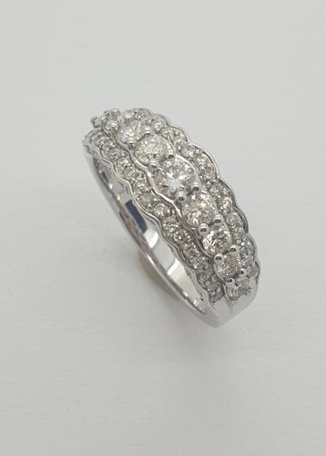 Diamond Half Eternity Ring (1 of 5)