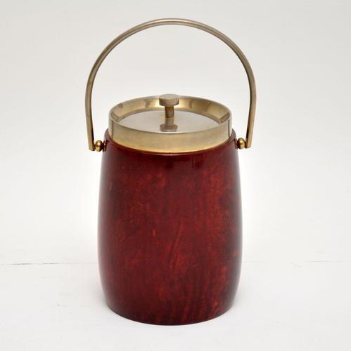1960's Vintage Lacquered Parchment Ice Bucket by Aldo Tura (1 of 8)
