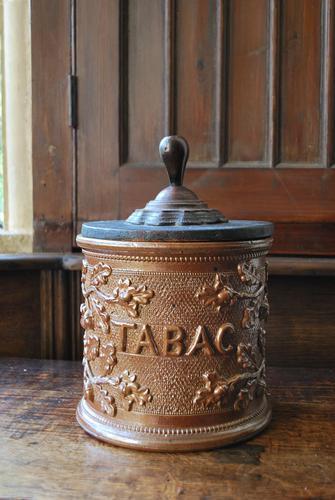 Antique French Stoneware Tobacco Jar (1 of 7)