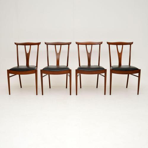 Set of 4 Vintage Dining Chairs in Rosewood & Afromosia (1 of 12)