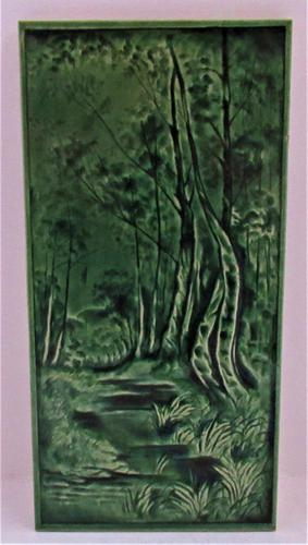 Victorian Emaux Ombrants Art Pottery Tile, Burmantofts or Similar c.1880 (1 of 4)