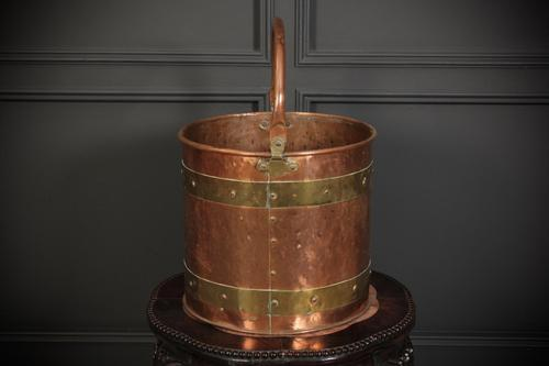 Copper and Brass Bucket (1 of 5)