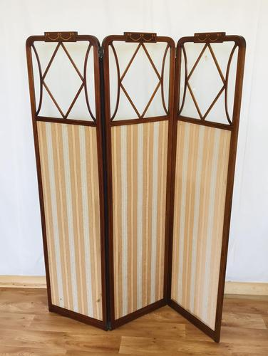 Edwardian Inlaid Mahogany Screen (1 of 13)