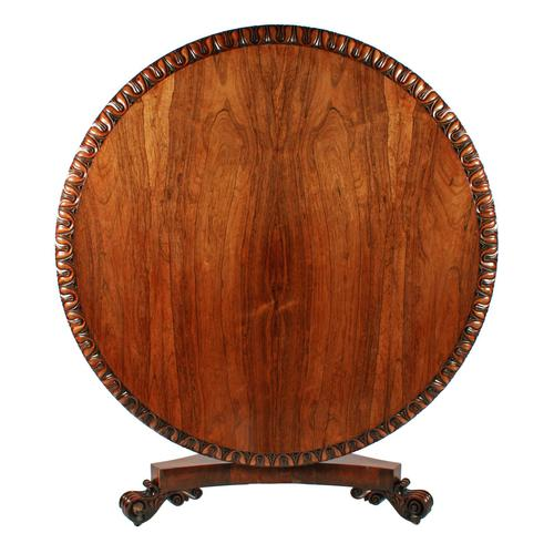 George IV Rosewood Centre Table (1 of 8)