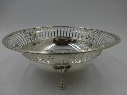 Antique Pierced Silver Dish Sheffield 1917 (1 of 7)