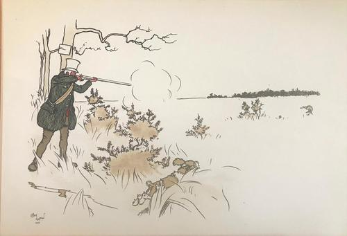 3 Original Chromolithographs by Cecil Aldin 1870-1935 of Shooting, Signed or Initialled 1900 (1 of 3)