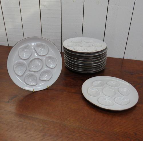 Set of Twelve Vintage Oyster Plates (1 of 6)
