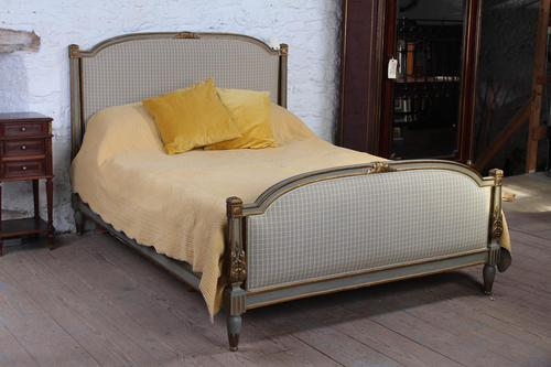 Lovely Gilded French Empire Upholstered King Size Bed (1 of 7)