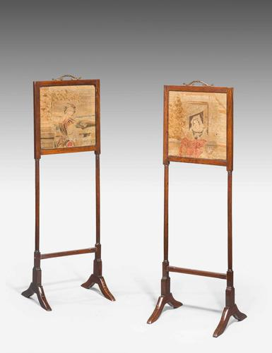 Pair of George III Period Small Screens (1 of 3)