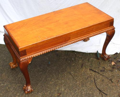 1940's Mahogany Coffee Table With Storage (1 of 4)
