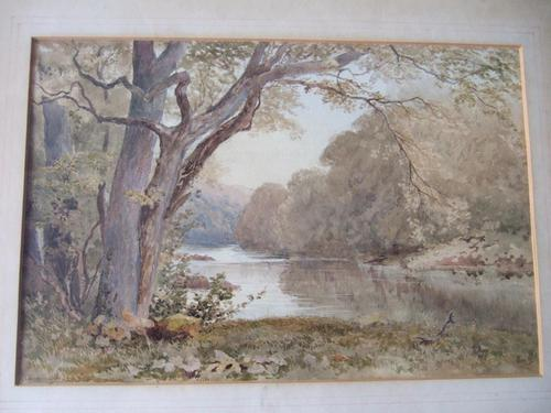 William Eyre Walker RWS: 19th century watercolour of a river landscape (1 of 2)