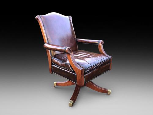 A Very Elegant Georgian Style Revolving Desk Chair (1 of 4)