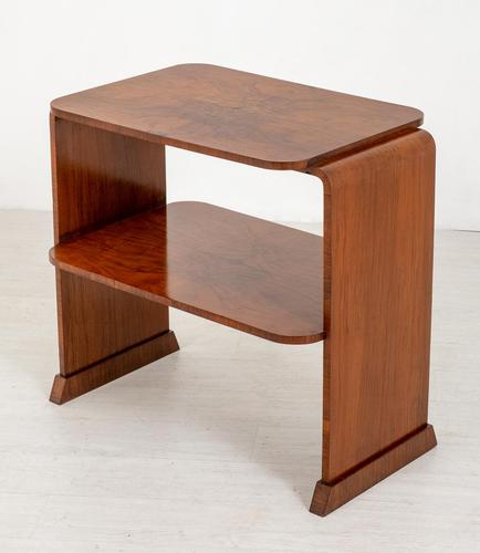 Walnut Art Deco Occasional Table (1 of 6)