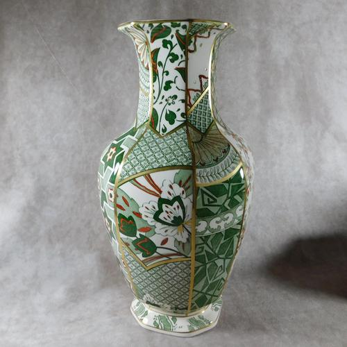 "Mason's Ironstone ""Applique"" Pattern  Hexagonal Vase (1 of 5)"