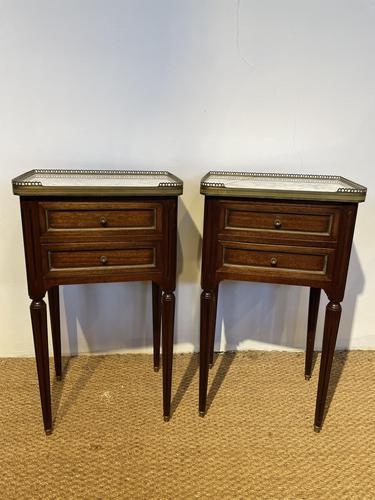 Pair of Mahogany 2 Drawer Bedside Cabinets (1 of 5)