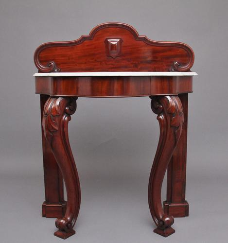 19th Century Mahogany & Marble Top Console Table (1 of 12)