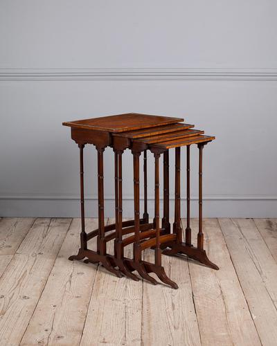 Edwardian Mahogany Nest of Tables (1 of 7)