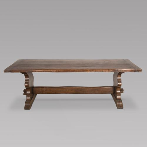 French Oak Trestle Dining Table (1 of 4)