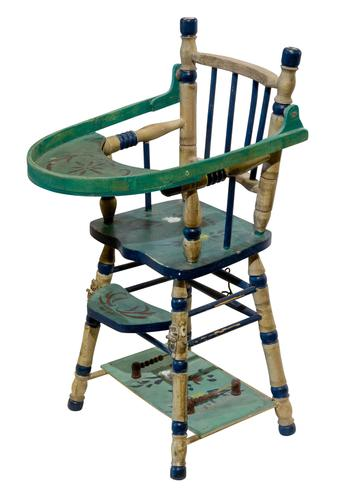 Continental Painted Miniature High Chair (1 of 2)