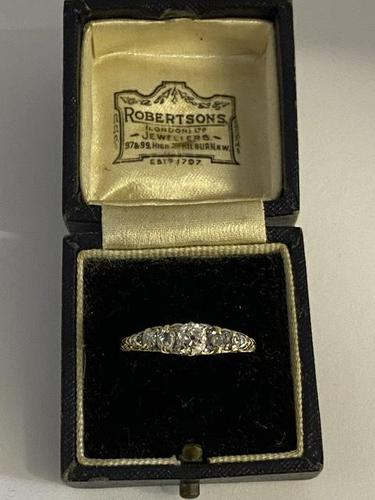 Victorian 18ct Five Diamond Ring 1ct (1 of 9)