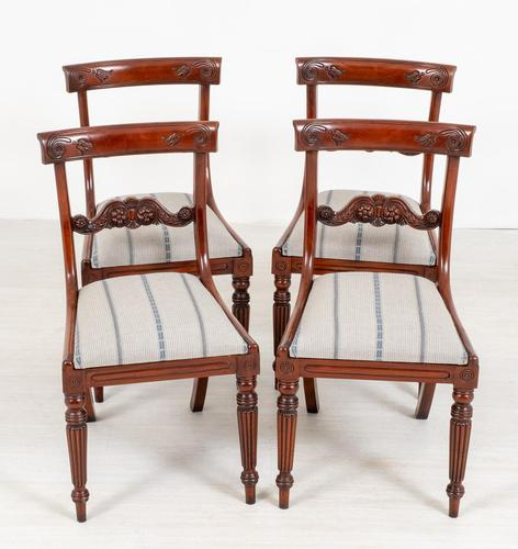 Set of 4 William IV Style Mahogany Chairs (1 of 10)