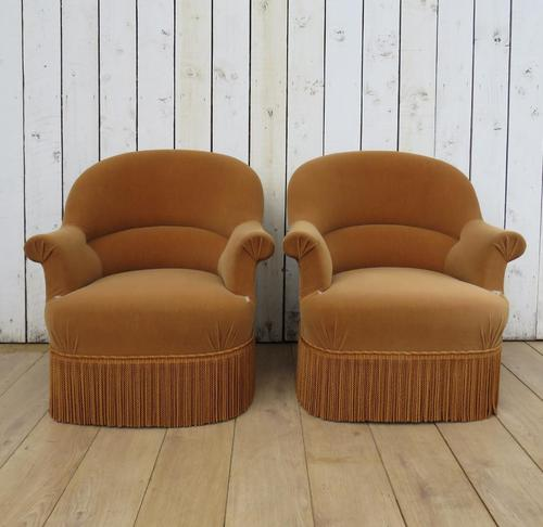 Pair Of French Crapaud Tub Armchairs (1 of 8)